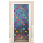 The Party Continues 50th Door Curtains 2m - 6 PKG