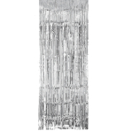 Silver Metallic Door Curtains 91cm x 2.43m - 6 PC