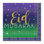 Eid Beverage Napkins 25cm - 12 PKG/16