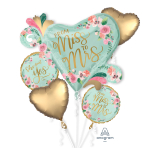 Mint To Be Satin Foil Balloon Bouquets P75 - 3 PC