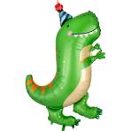 """Dino-Mite Party SuperShape Foil Balloons 26""""/66cm x 34""""/86cm P35 - 5 PC"""
