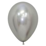 "Reflex Silver 981 Latex Balloons 12""/30cm - 50 PC"