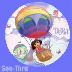 """Dora See-Thru Foil Balloon 26""""/66cm P30 5 PC"""