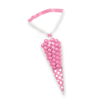 Light Pink Candy Buffet Cone Polka Dots Bags - 24 PKG/10
