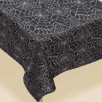 Spiders Flannel Web Plastic Tablecovers 2.7m x 1.4m - 6 PC
