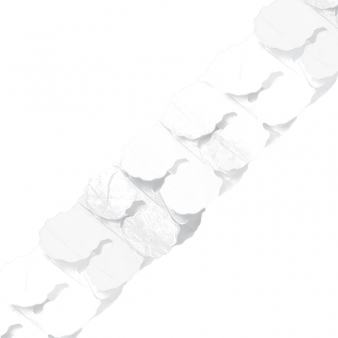 White Paper Garlands 3.65m - 6 PC