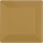 Gold Square Paper Plates 18cm - 6 PKG/20
