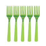 Kiwi Green Heavy Weight Plastic Forks - 12 PKG/48