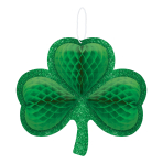 Shamrock Honeycomb Hanging Decorations 35cm x 32cm - 9 PC