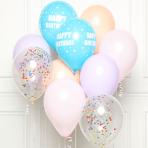 "Pastel Happy Birthday DIY Latex Balloon Kits 11""/27cm - 8 PKG/10"