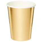 Metallic Gold Paper Cups 250ml - 6 PKG/8