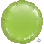 Metallic Lime Green Circle Standard Unpackaged Foil Balloons S15 - 10 PC