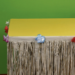 Natural Tissue Table Skirts 3m x 73.6cm - 6 PC