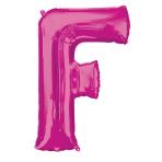 """Letter F Pink SuperShape Foil Balloons 34""""/""""86cm P50 - 5 PC"""
