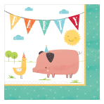 Barnyard Birthday Luncheon Napkins 33cm - 12 PKG/16