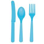 Caribbean Blue Assorted Cutlery - 12 PKG/24