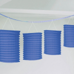 Bright Royal Blue Paper Lantern Garlands 3.65m - 6 PC