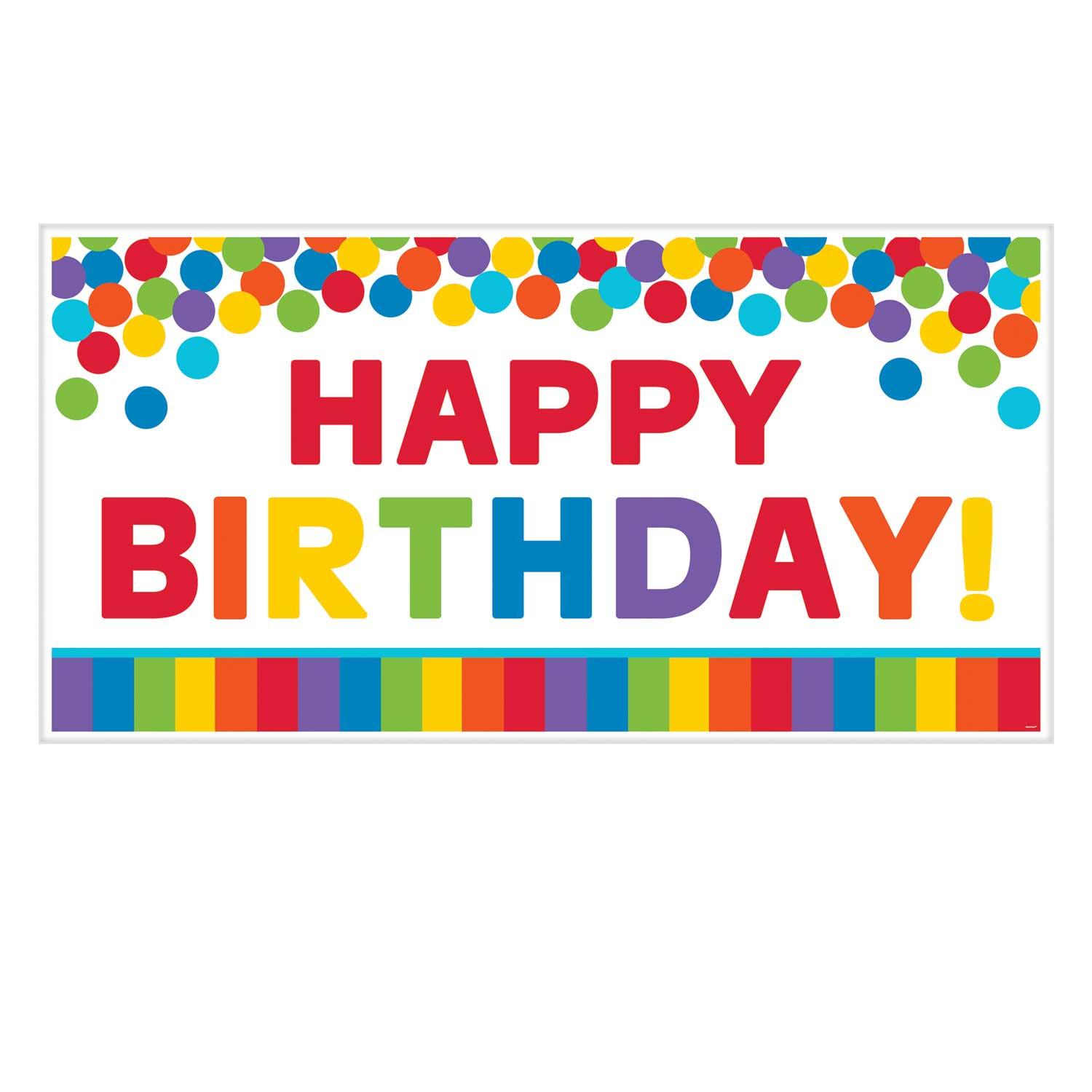 Home Decorator Collection Primary Rainbow Happy Birthday Giant Party Banners 1 65m X