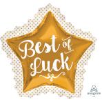 """Best of Luck SuperShape Foil Balloons 34""""/86cm w x 32""""/81cm h P35 - 5 PC"""