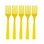 Sunshine Yellow Plastic Forks - 12 PKG/10