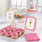 1st Birthday Girl Buffet Decorating Kits - 6 PKG/12