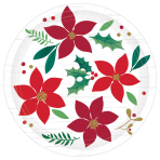 Christmas Wishes Paper Plates 18cm - 12 PKG/8