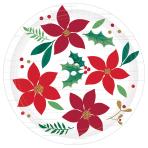 Christmas Wishes Paper Plates 18cm - 12 PKG/8