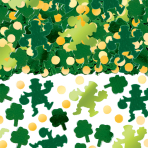 Big Pack Green Shamrock Confetti 70g - 6 PC