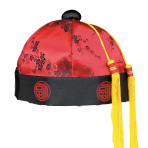 Chinese New Year Red Mandarin Hat  - 6 PKG