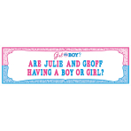 Girl or Boy Personalise It! Giant Sign Banners - 6 PC