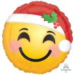 Santa Hat Emoticon Standard Foil Balloons S40 - 5 PC