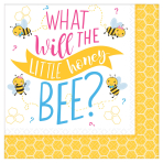 What Will It Bee? Luncheon Napkins 33cm - 12 PKG/16