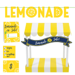 Lemonade Stand Decoration Kits - 4 PC