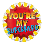 You're My Superhero Standard HX Foil Balloons S40 - 5 PC