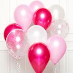 "Pink DIY Latex Balloon Kits 11""/27cm - 8 PKG/10"