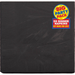 Black 2-ply Dinner Napkins 40cm - 12 PKG/50