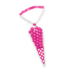Bright Pink Candy Buffet Cone Polka Dots Bags - 24 PKG/10