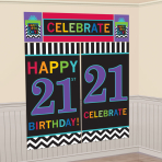 21st Celebrate Scene Setters 165cm 82.5cm - 12 PKG/5