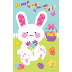 Pin the Tail on the Bunny Game Board - 12 PKG