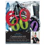 60th Birthday Party Kits - 6 PC