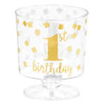 1st Birthday Tiny Hot Stamped Pedestal Cups 59ml - 6 PKG/30
