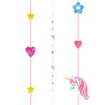 Unicorn Balloon Fun Strings 1.82m - 6 PC