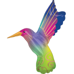 "Satin Infused Hummingbird SuperShape Foil Balloons 29""/73cm x 36""/91cm P30 - 5 PC"