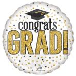 """Grad Sparkle Jumbo HX Foil Balloons 28""""/71cm w x 28""""/71cm h P32 - 5 PC"""