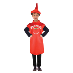 Ketchup Bottle Costume - Age 8-10 Years - 1 PC