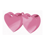 Pink Double Heart Balloon Weights 170g/6oz - 12 PC