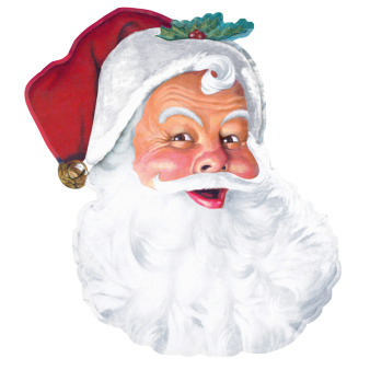Santa Face Bulk Cut-outs 66cm - 12 PC