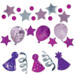 Pink Birthday Celebration Confetti 34g - 12 PC