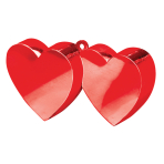 Red Double Heart Balloon Weights 170g/6oz - 12 PC