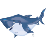 "Ocean Buddies Shark Supershape Foil Balloons 24""/60cm w x 24""/60cm h P35 - 5PC"